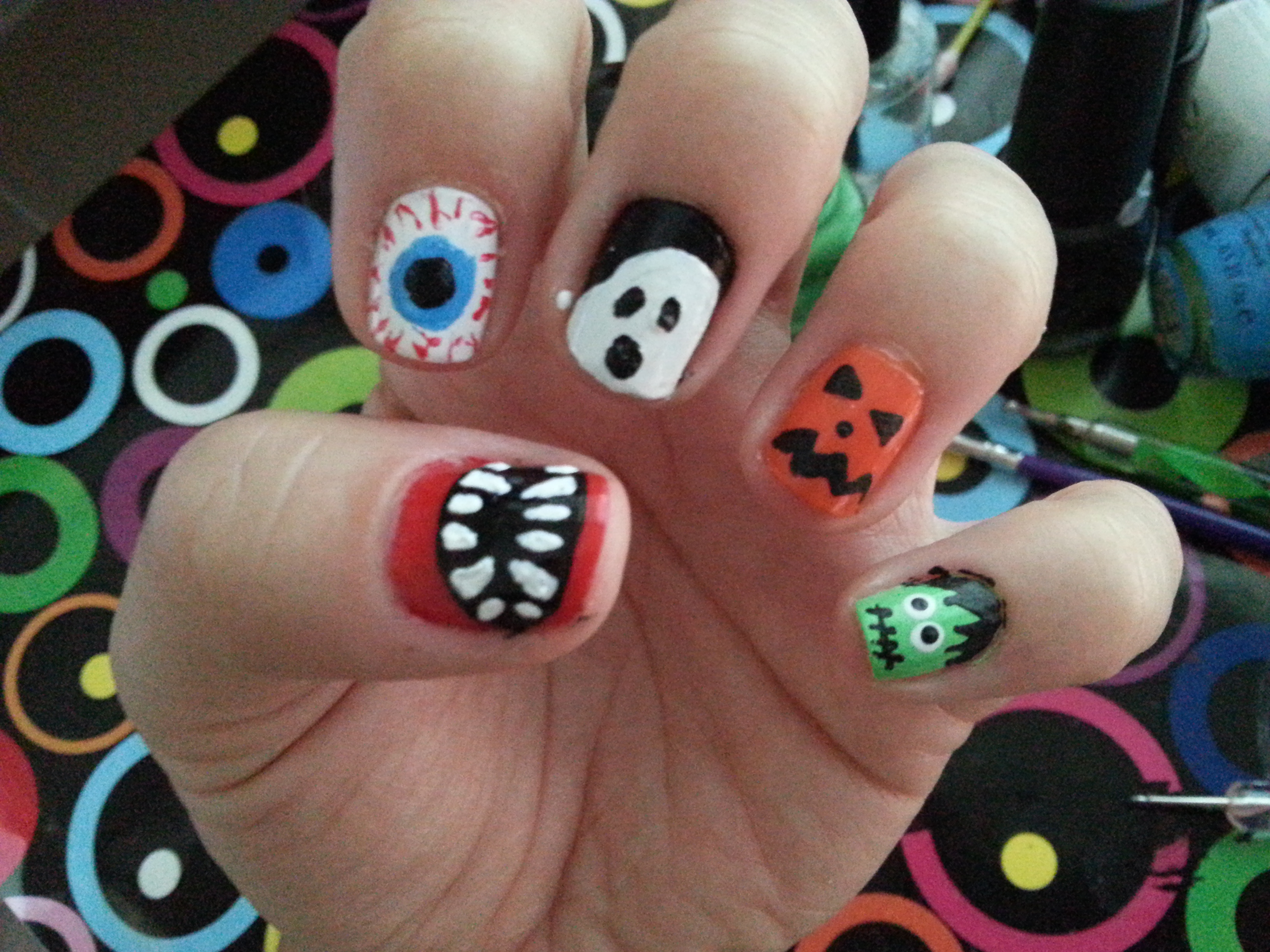 Tutorial: Uñas de Halloween ¡5 mini-tutoriales en uno! | Uñas ...