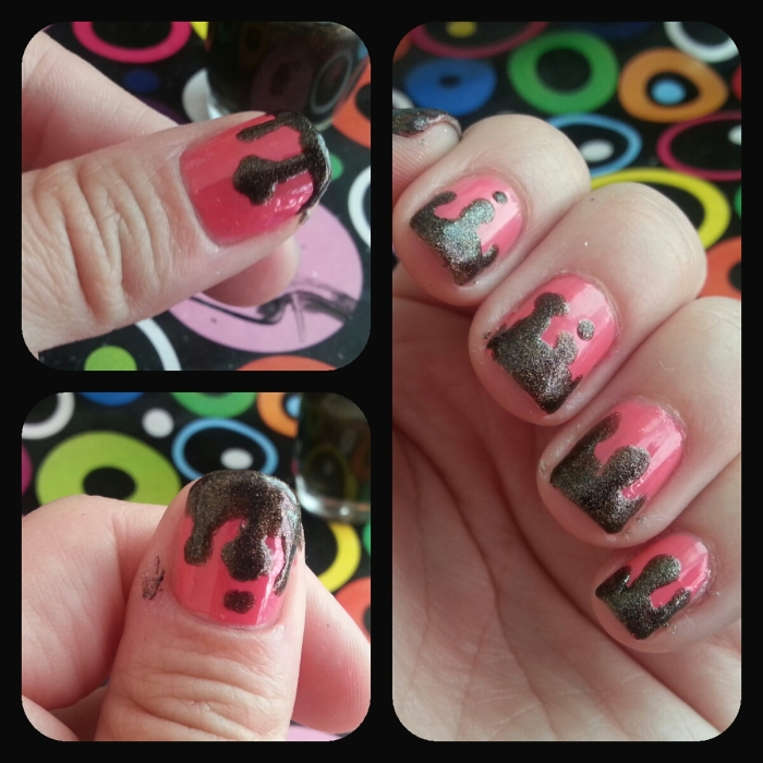 Nails, nail art, decoracion de uñas, uñas fáciles, uñas con chispas, uñas de helado, ice cream nails, paso a paso, tutorial, chocolate, diseños fáciles, tutorial