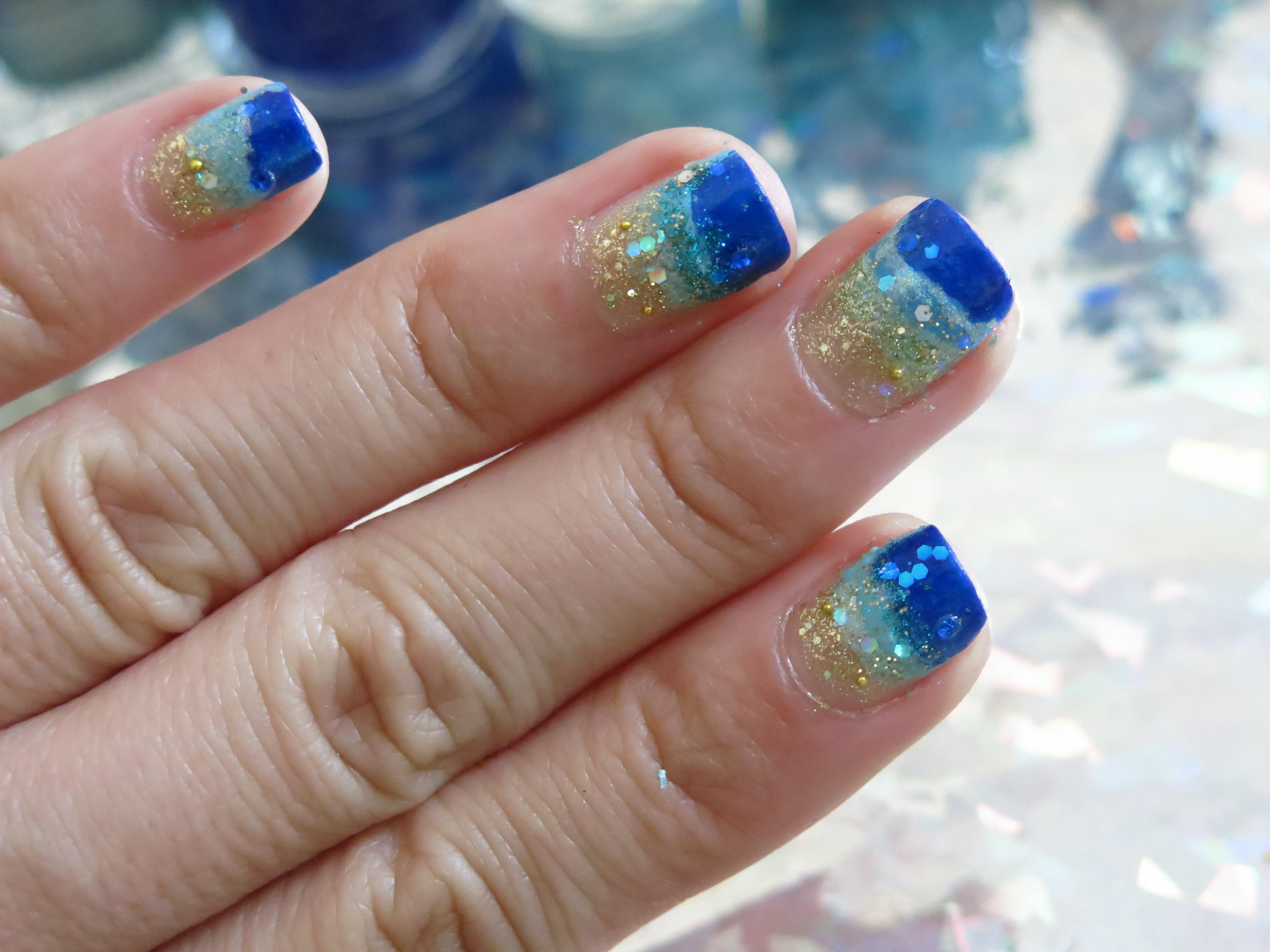 Tutorial u as de playa adrix nails u as barnices for Decoracion de colores