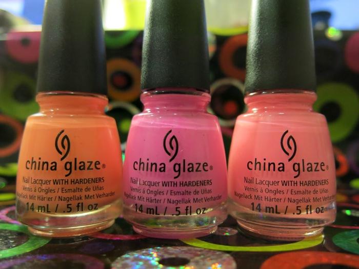 Sunsational, uñas, nails, nail polish, esmaltes, china glaze, verano, neon, cremes, rosa, naranja, nailpolishlove.me blog mexicano dedicado al nail art
