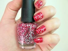 nailpolishlove.me un blog mexicano dedicado al nail art, couture de minnie, nail art, swatches, Innie Minnie Mightie Bow, OPI, uñas, esmaltes, rojo, Minnie Style