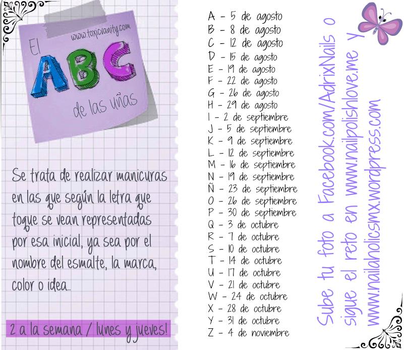 El Reto ABC de las uñas   Adrix Nails: Uñas, barnices, nail art!♥