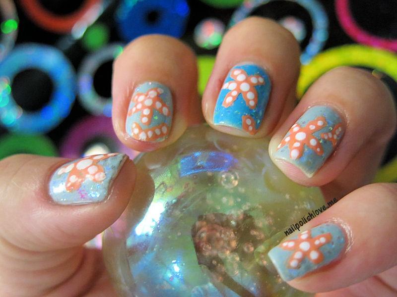 nailpolishlove.me blog mexicando dedicado al nail art, reto abc de las uñas, reto abc, nails, nail art, uñas, manicure, esmaltes, manicura, estrellas de mar, uñas paso a paso, adrix nails