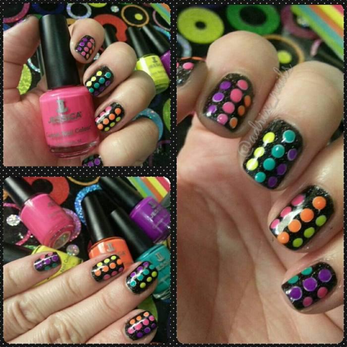 reto abc de las uñas, letra j, jessica cosmetics, nails, nail art, esmaltes, polka dots, esmaltes, uñas, manicure, manicura, nail art, nail polish, neon polka dots, nailpolishlove.me blog mexicano dedicado al nail art, blogs mexicanos de nail art