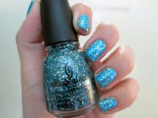 nailpolishlove.me blog mexicano dedicado al nail art, Bells Will Be Blinging, China Glaze, esmaltes, uñas, color azul, Sally Hansen, nail art, nails, nail polish, barnices, Water Color,