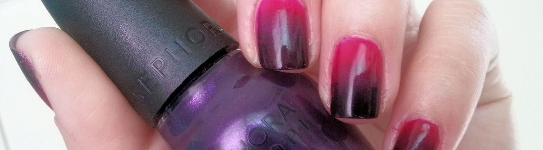 Uñas del día: Ombré negro y rosa | Adrix Nails: Uñas, barnices, nail ...