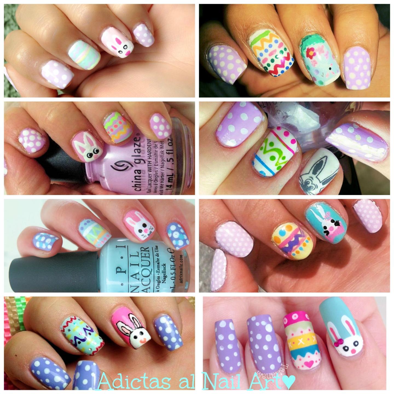 pascua, manicure, nail art, uñas, esmaltes, conejo, colores pastel, adictas al nail art, adrixnails, adrix, nails