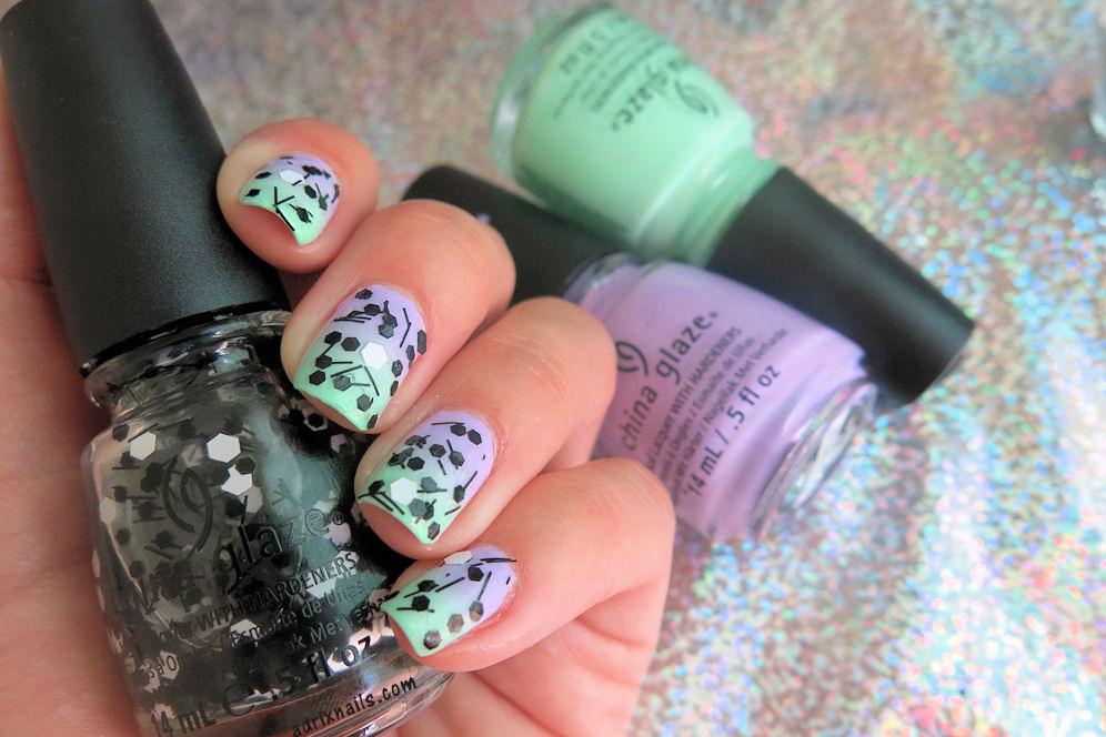 UÑAS DEL DÍA: OMBRÉ MATE Y CON GLITTER | Adrix Nails: Uñas, barnices ...