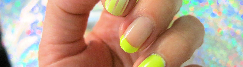 UÑAS DEL DÍA: AMARILLO, NEÓN, BLANCO & GLITTER   Adrix Nails: Uñas ...