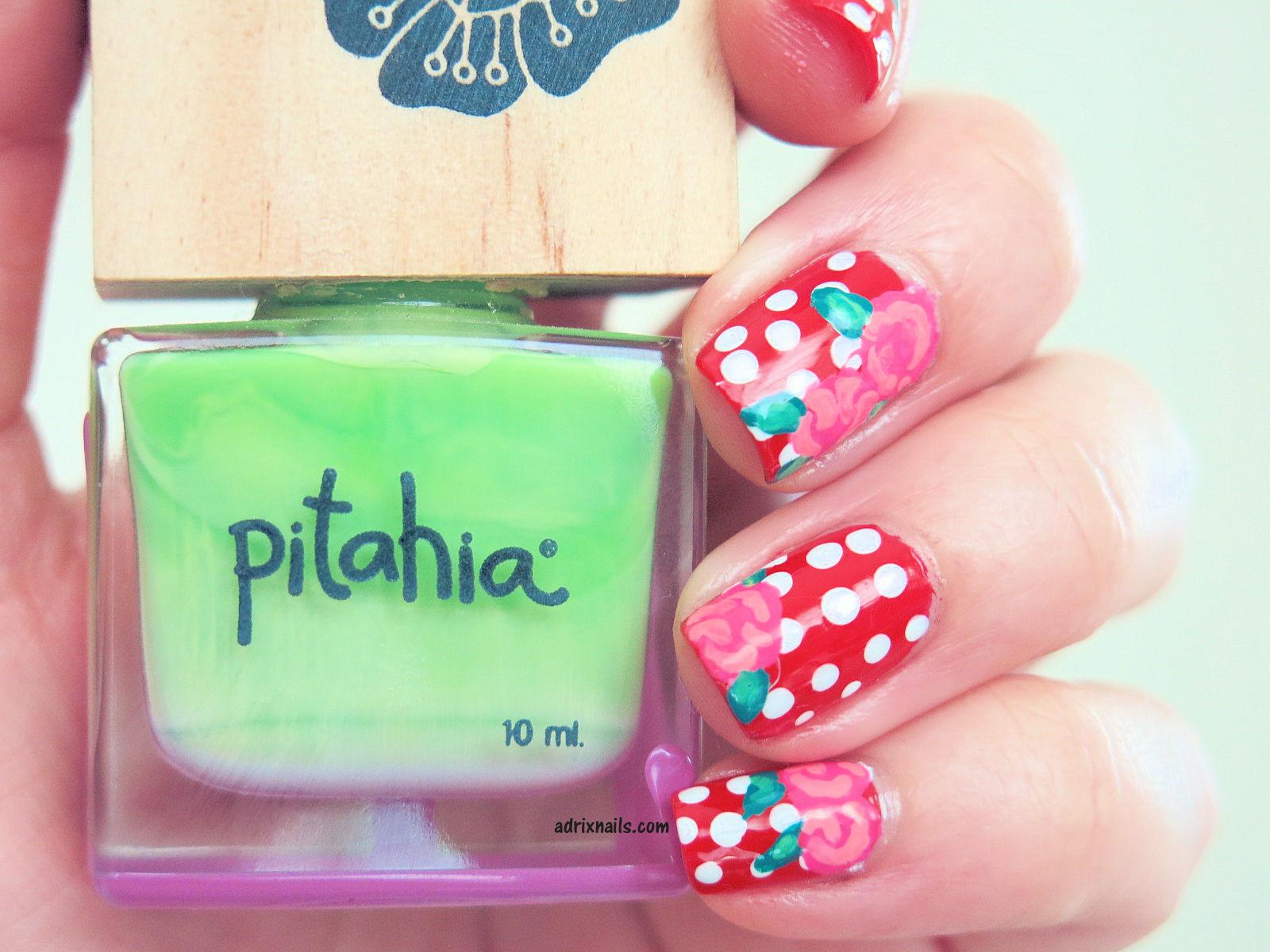 Tutorial: Uñas Vintage -Polka dots y rosas- | Adrix Nails: Uñas ...