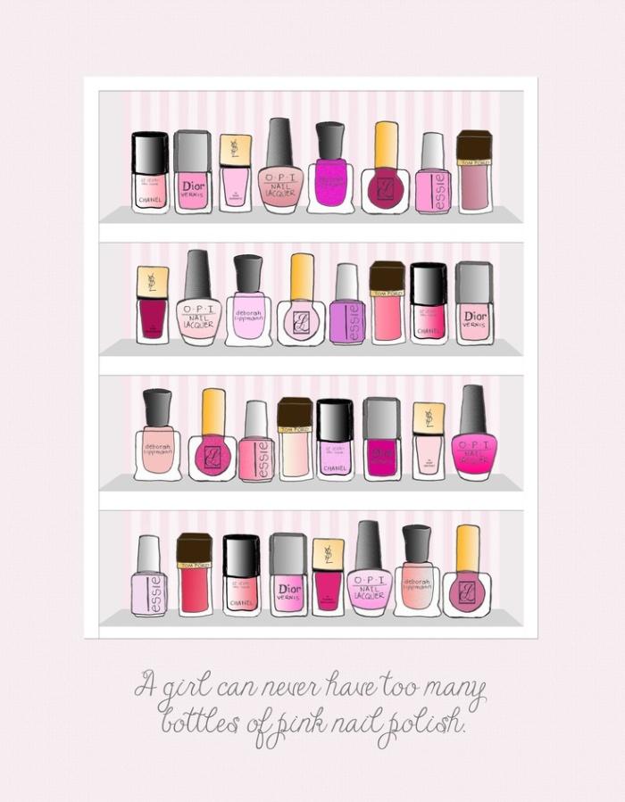 pink nail polish bottles