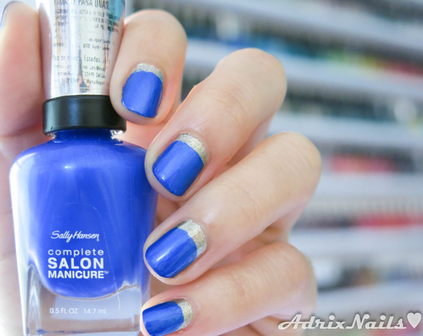 Sally Hansen, Batbano Blue, Shoot the Moon, Ruffian manicure, uñas ruffian, paso a paso, uñas mate, esmalte mate, uñas sencillas, esmaltes, uñas, diy nails, uñas paso a paso, swatches, nails, nail art, nail polish, colores, review, adrix nails, blog mexicano dedicado al nail art, blogueras mexicanas, mexican bloggers, blogs de méxico, nailpolishlove, blogs de uñas de mexico, blog de uñas, blogs de belleza