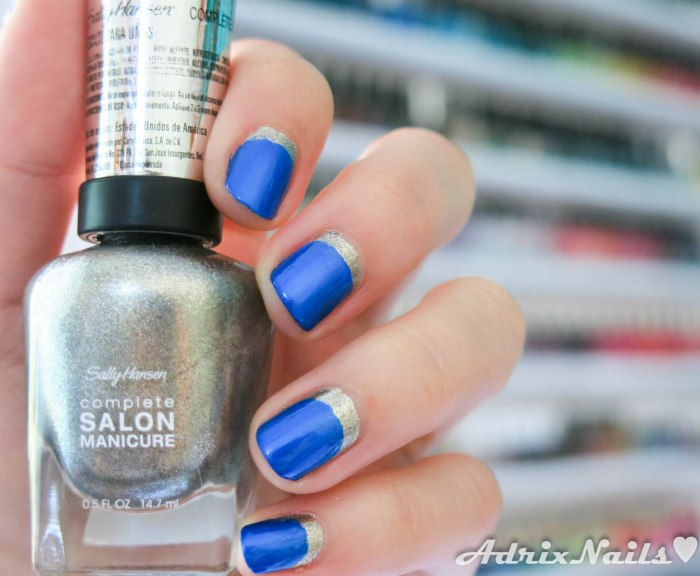 Sally Hansen - Shoot The Moon y Batbano Blue-8