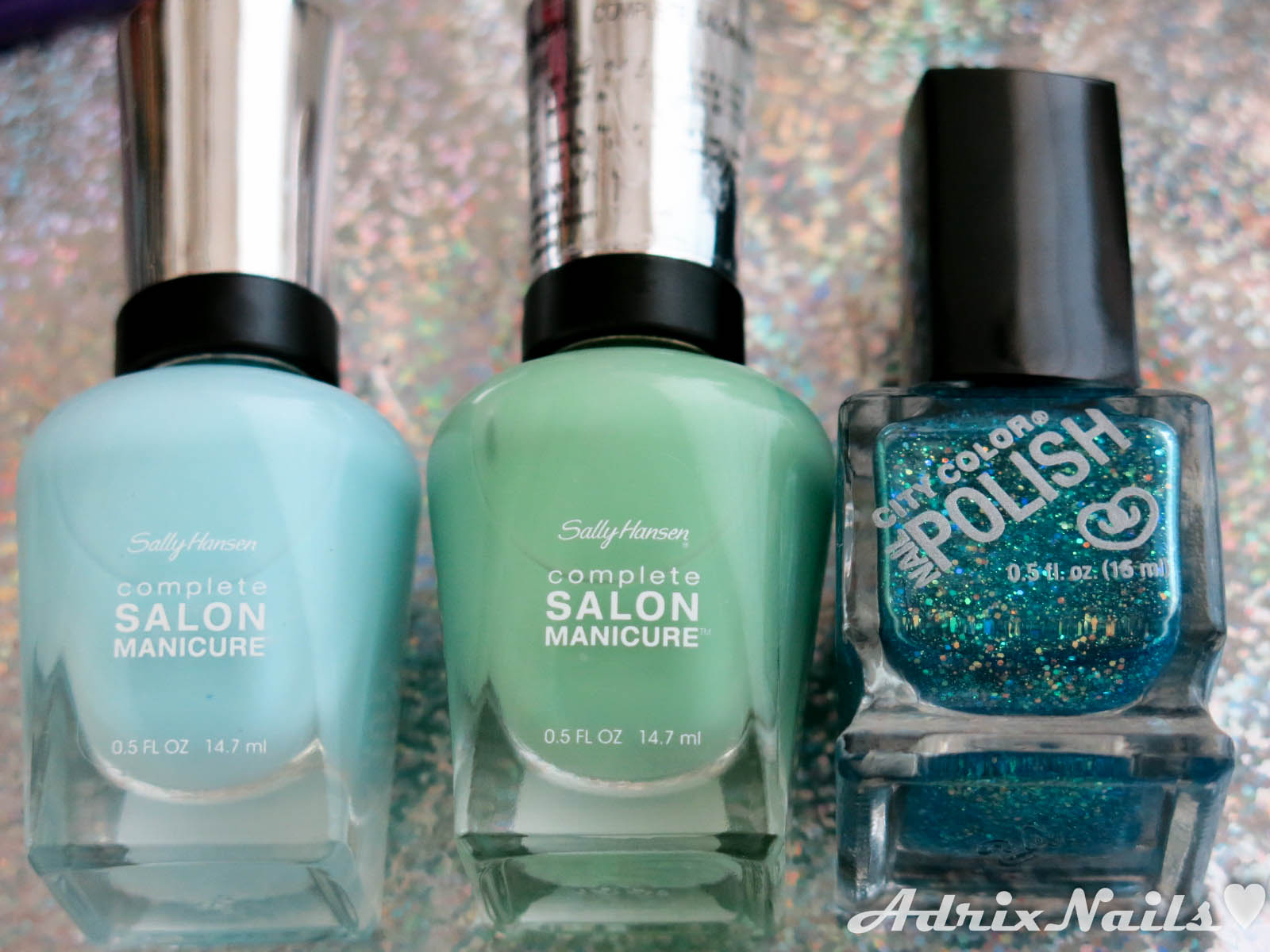 Uñas del día: Degradado con Sally Hansen y City Color | Adrix Nails ...
