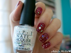 opi, just beclaus, snow globetrotter, opi, gwen stefani, reseña, review, glitter, reseña de esmaltes, reseñas de esmaltes, pintauñas, shimmer, uñas naturales, uñas cortas, rojo, striper, i love nail art, reseñas de esmaltes, red eye, uñas fáciles, estoperoles, studs, swatches, glitter, diy nails, uñas paso a paso, esmaltes, uñas, swatches, nails, nail art, nail polish, colores, review, adrix nails, blog mexicano dedicado al nail art, blogueras mexicanas, mexican bloggers, blogs de méxico, nailpolishlove
