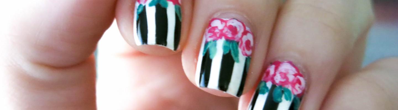 Tutorial: Flores Vintage y Rayas | Adrix Nails: Uñas, barnices, nail ...