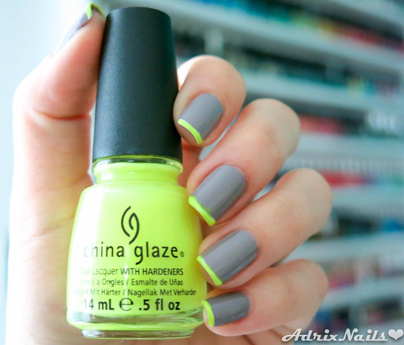 Uñas del Día: Gris y Neón | Adrix Nails: Uñas, barnices, nail art!♥